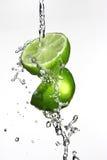 Limefrukt och vatten Royaltyfri Foto