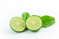Limefrukt på white Arkivbild
