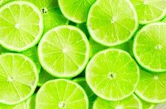 Limefrukt skivar bakgrund Royaltyfri Foto