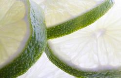 limefrukt skivar thick Arkivbilder