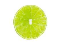 Limefrukt som klipps i halva royaltyfria bilder