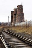 Limefruktbrännugnar i Kladno, Tjeckien, nationell kulturell monument Arkivbild