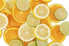 Limefrukter apelsiner, citron Arkivfoton