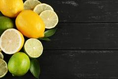 Limefrukter och citroner Arkivfoton