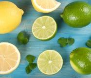 Limefrukter och citroner Royaltyfria Foton