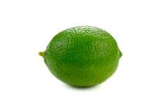 Limefruktfrukt som isoleras på vit bakgrund royaltyfria foton