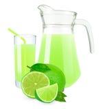 Limefruktfruktsaft Arkivfoton