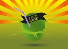 Limefruktfruktsaft Vektor Illustrationer