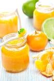 limefruktmandarinmarmalade Arkivfoton