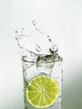 limefruktskivavatten Royaltyfri Fotografi