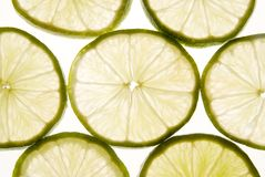 limefruktskivor royaltyfria foton