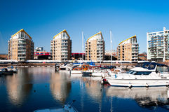 Limehouse Basin in East London Royalty Free Stock Photography
