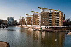 Limehouse Basin in East London Royalty Free Stock Photo