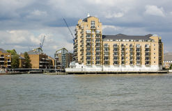Limehouse Marina entralce from River Thames Stock Photography