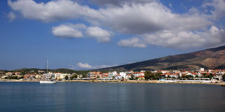 Limenaria town on the island Thassos Stock Images