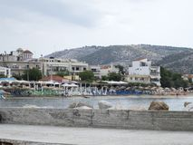 Port of Limenaria, Thasos. Limenaria is a village on the island of Thasos in northern Greece. The village numbers 2480 residents 2011 census and is the second Stock Images