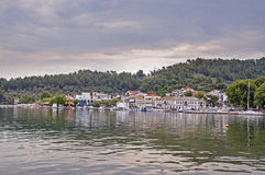 Limenas port in Thasos, Greece Royalty Free Stock Images