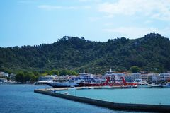 Naval port - Thassos stock image