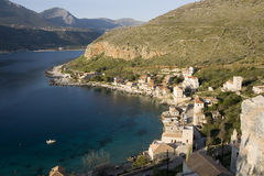 Limeni greek coastal village - Peloponnese. The village situated on Limeni Bay  is a town of the Mani Peninsula - Greece Stock Images