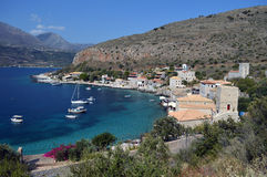 Limeni at mani Greek Small Village By the Sea Royalty Free Stock Images