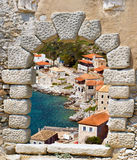Limeni traditional fishing village at Peloponnese, Mani. Greece Royalty Free Stock Image