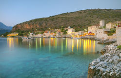 Limeni village in Mani. This a traditional fishing port in Limeni, Lakonia, Mani Stock Images