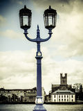 Limerick bridge lamps. Limerick city bridge lamps in accordance with St Mary's Cathedral in background. Ireland Stock Images