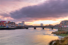 Limerick city scenery at sunset Royalty Free Stock Image