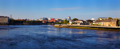 Limerick city and Shannon river. Panorama of Limerick city and the Shannon river in summer, Co. Limerick, Ireland Royalty Free Stock Photo