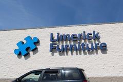 Limerick Furniture sign. Philadelphia, Pennsylvania, April 21 2018: Limerick Furniture sign Royalty Free Stock Photography