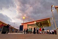 Limerick Greyhound Stadium. LIMERICK, IRELAND - JULY 2: Unidentified people at Limerick Greyhound Stadium. Final of the 2011 Kerry Agribusiness Irish St. Leger Royalty Free Stock Image