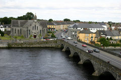Limerick, Ireland. Viewed from atop King John's Castle Wall stock photo