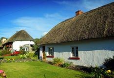 Limerick irlandese di Adare Co. del cottage di vecchio stile Immagine Stock Libera da Diritti