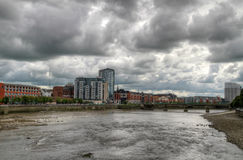 Limerick river view. Shannon river view in Limerick city - Ireland Royalty Free Stock Image