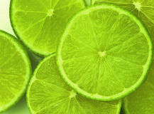 Limes. Sliced limes Royalty Free Stock Images