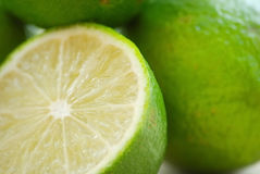 Limes. Fresh and juicy green limes Stock Photo