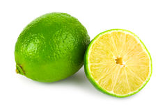 Limes. Isolated on white background Royalty Free Stock Photo