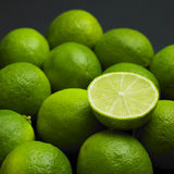 Limes. Still life of green limes royalty free stock image