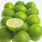 Limes. Still life of green limes Stock Photo