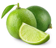 Isolated limes royalty free stock photo