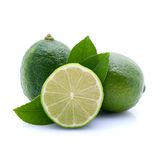 Limes. Fresh limes, isolated on white ground Stock Images