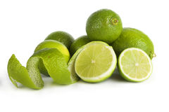 Limes. Picture of limes isolated on white background Royalty Free Stock Photo