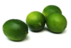 Limes. Lime is a term referring to a number of different fruits (generally citruses), both species and hybrids, which are typically round, green to yellow in Stock Photography