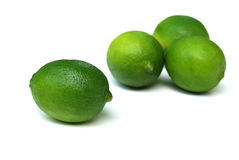Limes. Lime is a term referring to a number of different fruits (generally citruses), both species and hybrids, which are typically round, green to yellow in Royalty Free Stock Photos