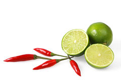 Free Limes And Chilli Peppers Royalty Free Stock Photo - 3902305
