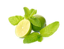 Limes And Mint Stock Image