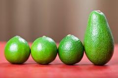 Limes and avocado Royalty Free Stock Photos