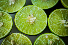 Limes Backgrounds, Close up shot Royalty Free Stock Photography