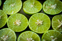Limes Backgrounds, Close up shot Stock Image