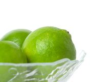 Limes in a Bowl Royalty Free Stock Photo